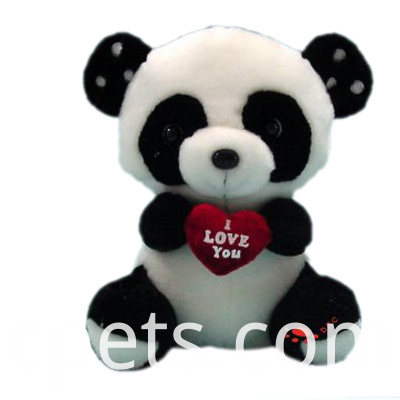 plush panda with heart