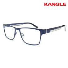 Gafas de metal de moda Gafas de marco hueco de la lente del cuerpo Marco óptico listo de las mercancías listas