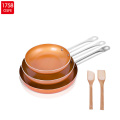 High Quality Copper Nonstick amc Cookware set