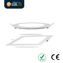 Kundengerechte 6W 12W 18W 20W runde / quadratische LED-Platte Downlight
