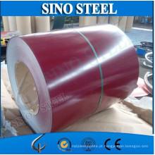 Cor revestido de bobina de aço galvanizada PPGI para coberturas