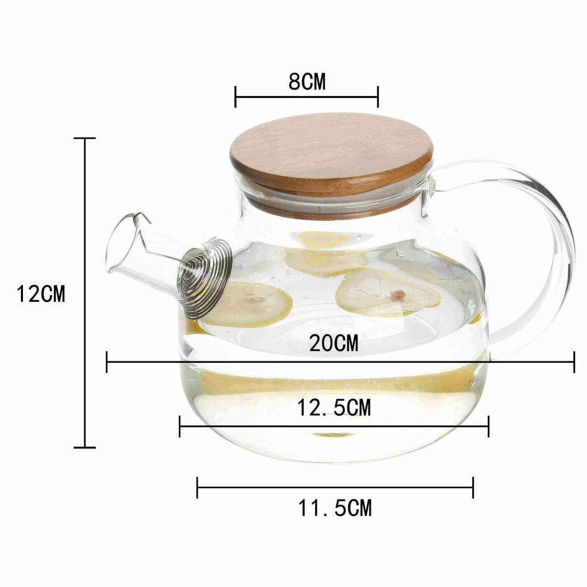 handmade handcraft hand blown high borosilicate Glass heat cold resistant best quality coffee milk tea carafe pot jug maker pitcher with airtight bamboo lid 00 (20)