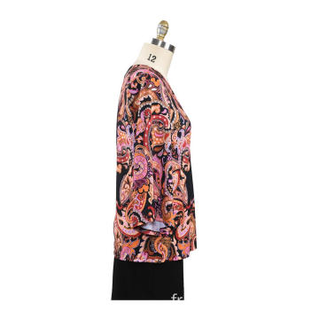T-shirt femme automne Fix Print Loose Tops