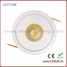 Precio de fábrica 8W Dimmable COB techo Downlight LC7716D