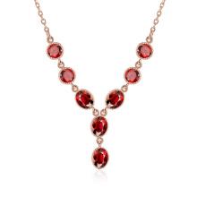 Western-Harz-runde hängende Halsketten-Rosen-Gold überzogene Schmucksachen
