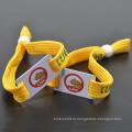 Полиэстер пользовательских ваш логотип упругой ткани трубки браслет