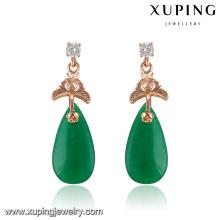 91727 Fashion Fancy CZ Diamond Rose Gold Color Imitation Jewelry Earring