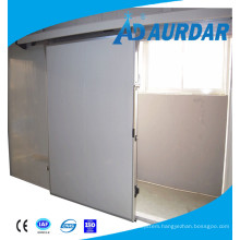 fitting cold storage hanging sliding door wheels in cold room