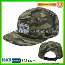 custom camo cotton 5 panel cap hat NC0007