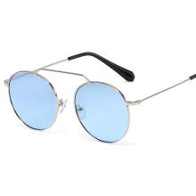 2020 Fashion Round Metal Style Tint Ocean Lens Sunglasses Vintage Classic Brand Design Sun Glasses Oculos De Sol