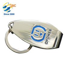 Porte-clés de pièce en métal de promotion de logo fait sur commande de haute qualité