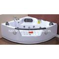 Square White Acrylic Sanitary Whirlpool Massage Bathtub (OL-004)