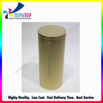 Caja de papel redondo de grado superior OEM Welcomed Cylinder Packaging Tube