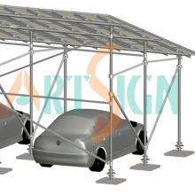 Solarcarport Solar Parkplatz Regalsysteme