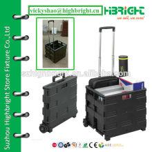 black folding plastic convenient roll cart