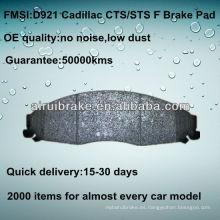 D921 Pastilla de freno para Cadillac CTS 2003-2007 F