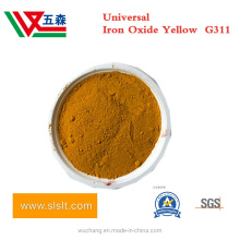 Inorganic Powder Pigment G311 Ferric Iron Oxide Yellow for Rubber Coating, Micronized Iron Oxide Yellow for Paint Coating and Plastic