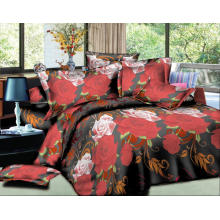 Microfiber bed sheet 3d 100 polyester printed quilt cover