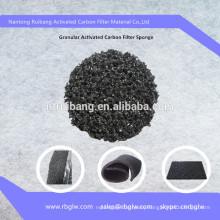 Air Purify Filter Material Coconut Granular Active Carbon Foam Sponge