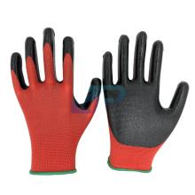 13G Polyester Liner Nitrile Coated Gloves Work For Industrial