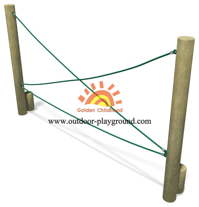 Crossed Rope Balance Playground Equipment