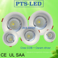 5W-50W CREE Chip Osram Philips Driver Curve Face Embeded LED Downlight with UL SAA