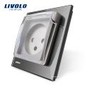 Livolo UE Standard Israel Power Socket avec la couverture étanche AC 100 ~ 250V 16A VL - C7-C1ILWF-15
