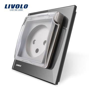 Livolo Стандарт ЕС, розетка с водонепроницаемой крышкой, AC 100 ~ 250 В, 16 А, VL - C7-C1ILWF-15