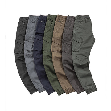 Pantalon cargo jogger lavé multicolore à poches multiples