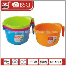 Salade de salubrité des aliments pour le lave-vaisselle Certification SGS & UE conteneur bols en plastique avec poignée