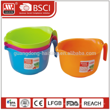 With SGS &EU Certification dishwasher safe food salad container bowls plastic with handle