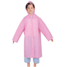 Girl's pink EVA Raincoats