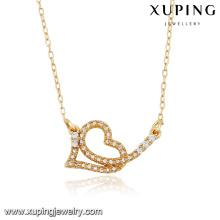 43087 Bijoux Xuping spécial Prix Amour en forme de collier plaqué or pour l'amant spécial