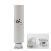 50mm diameter white gloss coating shampoo tube packaging with cap