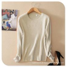 Pure Cashmere Sweater Mulheres Novo Design De Malha Pullover Cor Sólida com Manga Longa O Pescoço
