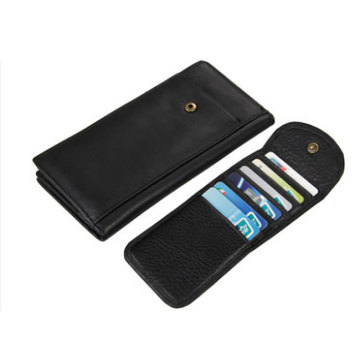 Carteira de Couro Inteligente Titular Wallet Rfid Blocking Case