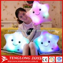 Star shaped rainbow bright light LED pillow