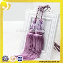 Accessoires pour rideaux en gros Tassels à rayures violet Tassel