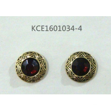 Retro Earring with Engraved Gem Jewellery