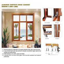 Feelingtop Aluminum Wooden Windows with Hardware Casing (FT-WW90)