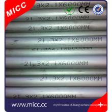 uma extremidade fechada AISI 304/316/310 / INCL600 / 446 tubos sem costura de aço inoxidável AISI 316 para sensor de termopar