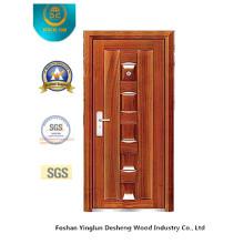 Puerta de acero de estilo clásico para interiores y exteriores (B-3017)