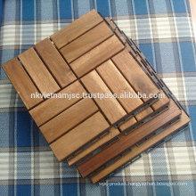 Easy Installing Interlocking Deck Tiles 300*300*19 mm