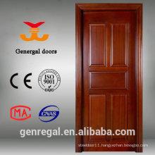 Vintage style 5 panel natural wood panel door
