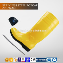 JX-AL965 CE China Eco-friendly waterproof plastic PVC cheap rain boots & safety shoes