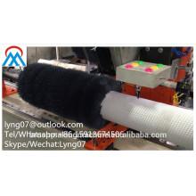 Máquina redonda da marcação da escova de 2 linhas centrais / máquina escova do rolo / máquina redonda da escova / máquina redonda da perfuração e do tufting da escova