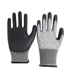 13G HPPE Liner PU Coated Cut Level 3 / 5 Cut Resistant Gloves