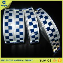 Cinta reflectora de impresión azul reflectante para paños policiales