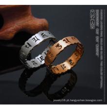 Atacado novos tendências produtos quentes moda anel de aço inoxidável casal