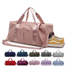 Dry Wet Separated Sport Duffel Training Yoga Travelling bags Overnight Weekend Shoulder Tote Gym Bag with Shoes Compartment